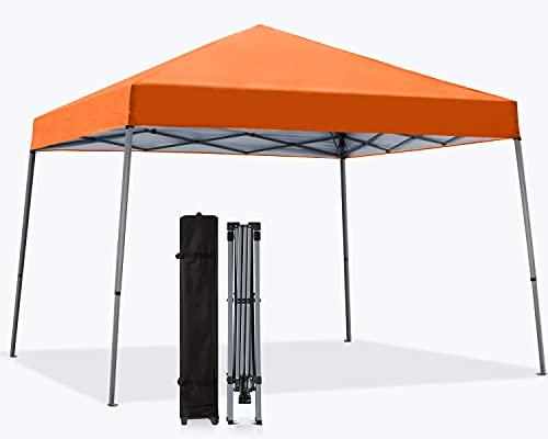 MasterCanopy 3 x 3 m Slant Leg Pop-up-Pavillon Instant Outdoor Baldachin Einfache Einrichtung Faltpavillon, Orange