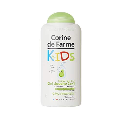 Corine de Farme Gel Douche Kids 2-En-1 Corps et Cheveux Parfum Poire - Gel Douche et Shampoing Hypoallergénique, Formule Clean Beauty - Fabriqué en France sous Contrôle Dermatologique - 250 ml