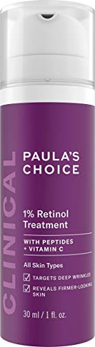Paula's Choice CLINICAL 1% Retinol Treatment Cream with Peptides, Vitamin C & Licorice Extract, Anti-Aging & Wrinkles, 1 Ounce, PACKAGING MAY VARY