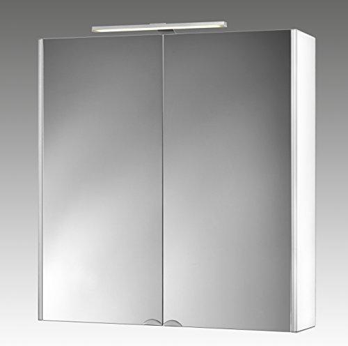 Jokey Spiegelschrank DekorAlu Aluminiumspiegelschrank mit Beleuchtung Breite 67 cm Badspiegel von Jokey weiß