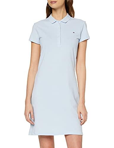 Tommy Hilfiger Slim Polo Dress Vestido, Azul (Breezy Blue C1O), XL para Mujer