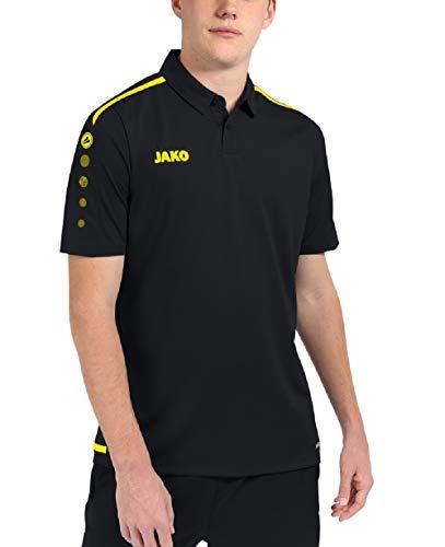 JAKO Herren Polo Striker 2.0 Polos, schwarz/Neongelb, L