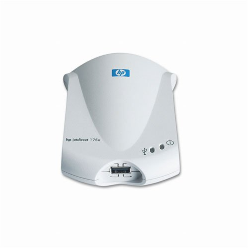 HP Jetdirect 175x Fast Ethernet Print Server - Servidor de impresión (2 MB, HP Install Network Printer Wizard, 100 g, 2 W, 40 MB free hard disk space, CD-ROM drive, 0 - 95 %)