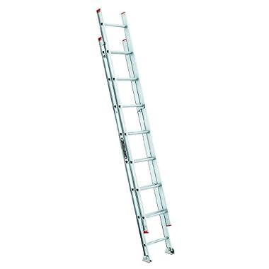 Louisville Ladder L-2321-16 200-Pound Duty Rating Aluminum Extension Ladder, 16-Foot