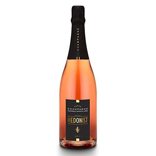 Hedonist® Champagner Rosé 0,75 L | 100% Pinot Meunier | edles Design | feine Aromen | exklusiv aus Leuvrigny, Frankreich