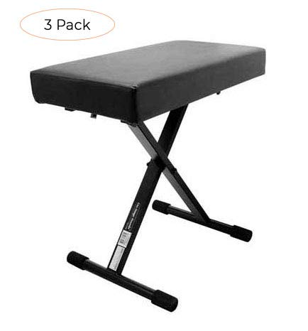 Amazing Deal On-Stage KT7800+ Deluxe X-Style Padded Keyboard Bench (Thrее Расk)