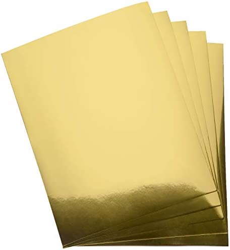 Metallic Gold Paper Card Stock Stationary Sheets 60 Pack Golden Foil Board for Flowers Scrapbook product image