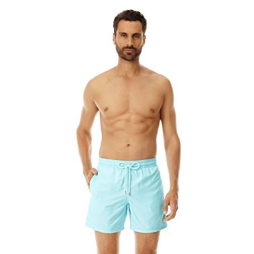 Vilebrequin Herren Men's Moorea Solid Swimtrunk-XXL Badehose, aquamarin, XX-Large