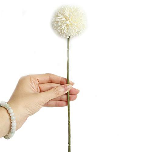 Rocita Künstliche Pusteblume Lebensechte Pusteblume Innen Außen Hängend Pflanzgefäß Haus Garten Dekoration Real Touch Künstliche Blumen 1 Stück weiß