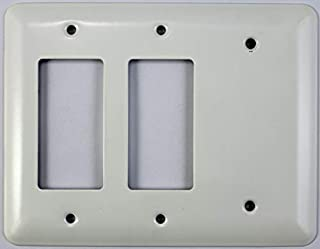 Classic Accents Mulberry White Princess Wall Plates - (3 Gang Combo - 2 GFCI/Rocker 1 Blank)
