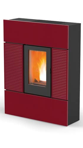 Pelletofen MCZ Ray Comfort Air Maestro 7,8 kW Pellet Pellets Ofen Auswahl-Ray Keramik-Rot