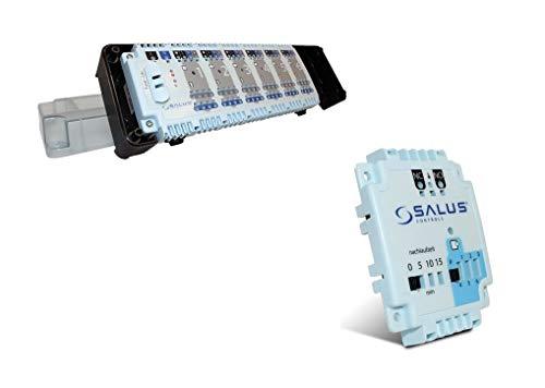 Salus KL06 Regelklemmleiste 230V für Fußbodenheizung mit Pumpenmodul PL06, Klemmleiste für 6 Raumthermostate und 24 Stellantriebe mit Pumpensteuerung