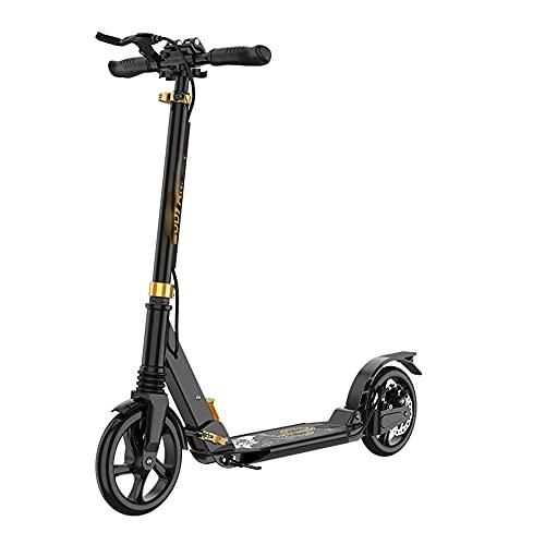 De múltiples fines Scooter de dos ruedas adecuado for adolescentes y adultos mayores de 12 años. PU Ruedas de suspensión Frenos dobles ajustables de cuatro velocidades de cuatro velocidades Peso máxim