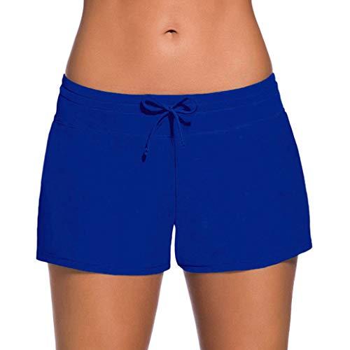 Bañador Mujer,Riou Mujeres Sexy Shorts de baño Trajes de baño Bañador Deportivo natación Bikini para Mujer Bragas Pantalones Cortos Ajustable