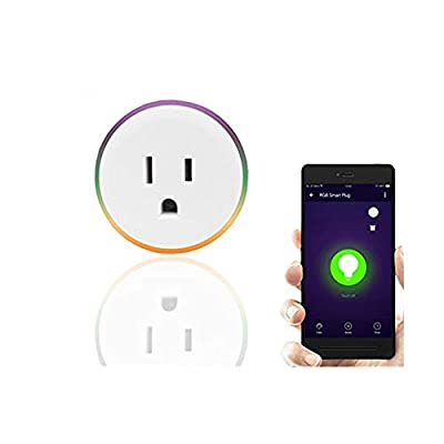 Wifi Plug, Knaclean Smart Surge Protector with 3 AC Outlets and 4 USB Ports Wi-i Power Strip Voice Control the Appliance via Amazon Echo Dot