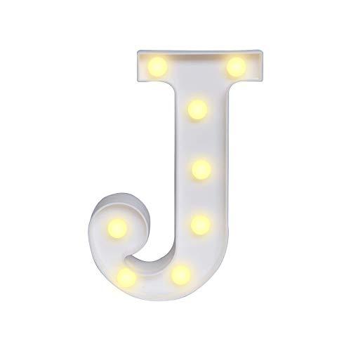 Ueohitsct Vintage grande LED Carpa letra alfabeto símbolo luces signo Navidad boda fiesta
