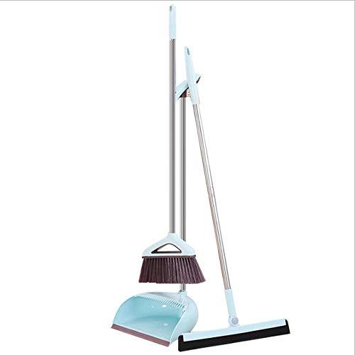 FTFDTMY Juego De La Escoba De Plástico, Limpiador Combinación Escoba Mágicamente Rascarse Sensación Cómoda Y Resistente para La Limpieza De Suelos Casa,a