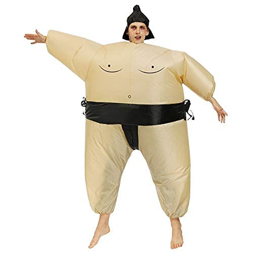 QASIMOF Disfraz Hinchable de Luchador de Sumo Adulto carnaval