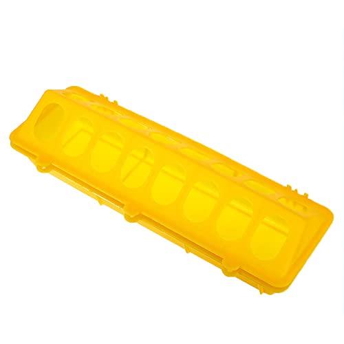 XIEYI 1 Pieza de Pollo asado a la Parrilla de plástico criador Flip molido Pollo Anti-propagación-Yellow_M