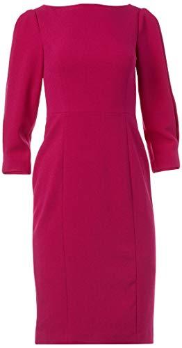 Eliza J Women's 3/4 Sleeve Sheath Dress, Magenta, 18