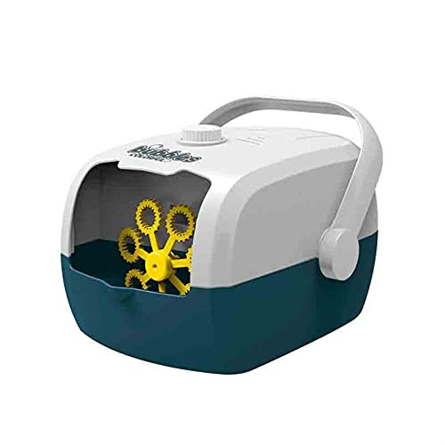 ZKLL Blasengebläsemaschine Automatisch - Big Bubble Maschine Mit Hoher Ausgabe Tragbarer Bubble Maker Batteriebetriebene Blasmaschine Mit Stecker Für Parteien Im Freien Innen (Color : Blue)
