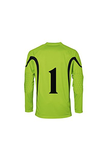 JAKO Torwarttrikot Joker mit Nr.1 - Camiseta de Portero de fútbol para Hombre, Color Verde/Negro, Talla 2XL