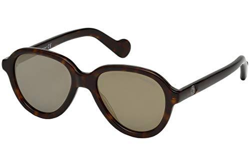 MONCLER ML0043-52C Gafas, havana, 52/18/145 para Hombre