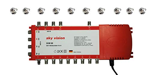 SAT Multischalter SVM 98-9x8 TV Matrix Signal-Verteiler Multiswitch 2 Satellit 8 Teilnehmer HDTV FullHD 4K UHD
