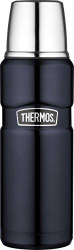 THERMOS 4003.256.047 Thermosflasche Stainless King, Edelstahl Midnight Blue 0,47 l, Drehverschluss, 12 Stunden heiß, 24 Stunden kalt, BPA-Free