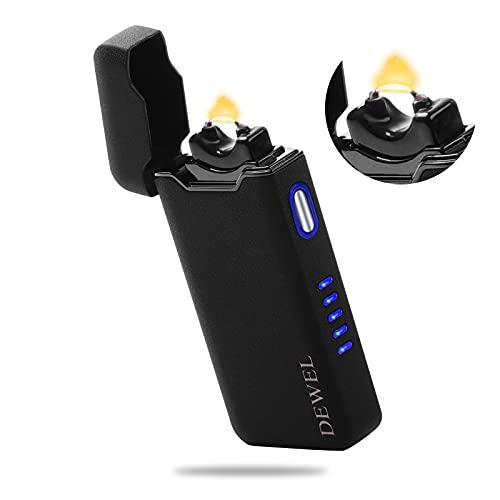 ライター プラズマ 電気プラズマアークストームライター ライターusb ライター 屋外使用可 小型 充電式 防風 軽量 薄型 男性プレゼント (マットブラック)