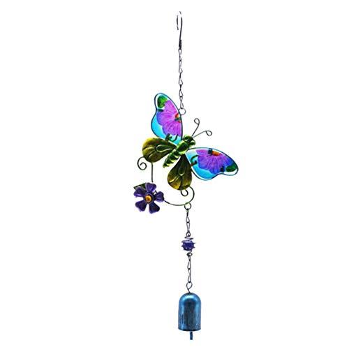 Garneck Schmetterling Wind Glockenspiel Metall Musikalische Windglocken Handwerk Hängen Dekoration für Wohnzimmer Garten Fenster Terrasse Rasen