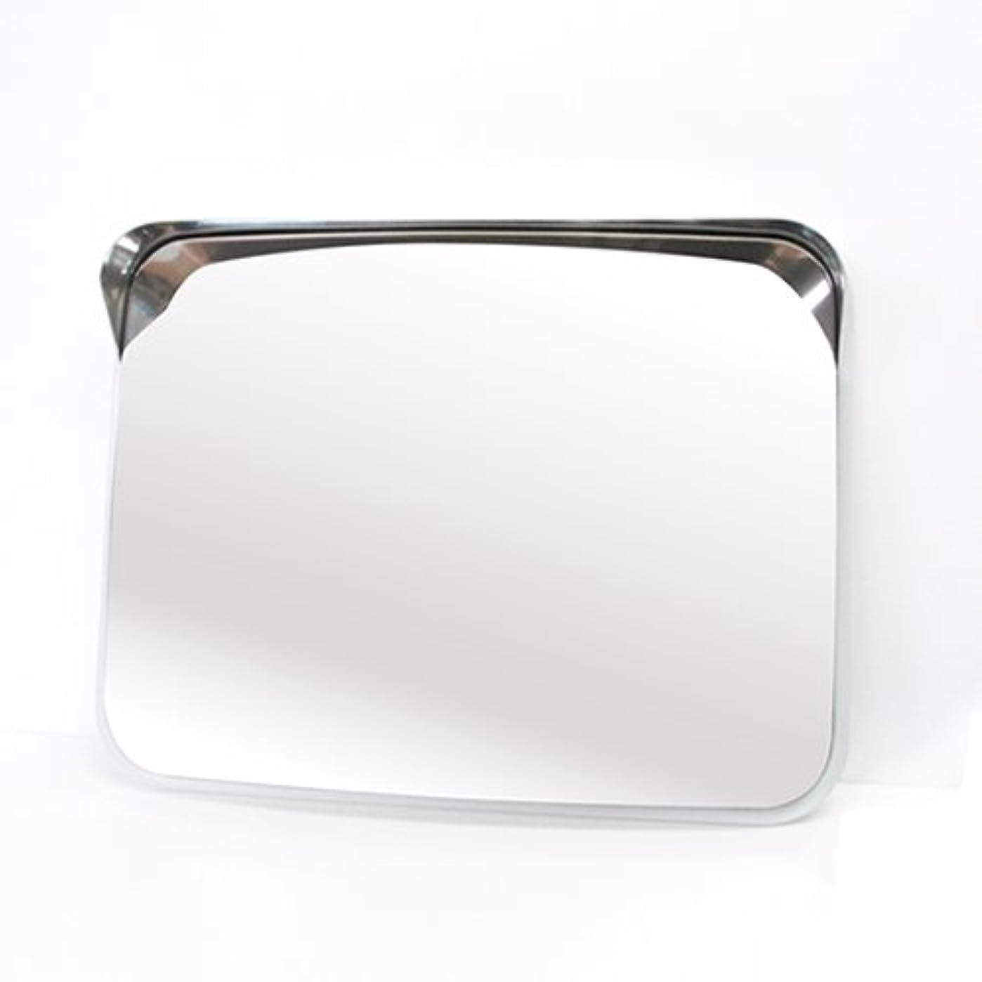 マニュアルコマンドエスカレーターホップ ステンレス製 カーブミラー ガレージミラー 角型48.5cm×37.5cm HPS-角50グレー 日本製