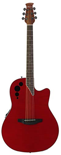 Ovation Applause Guitarra Electro-Acústica Mid Cutaway cherry flame AE44IIP-CHF