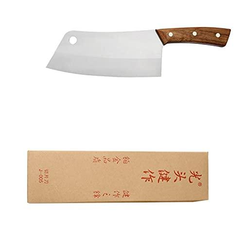 7.5 '' Cocina de acero inoxidable Cuchillo de corte Sharp 4CR13 cuchilla cuchilla Cuchillo Cuchillo Caja de regalo Caja de carne Peces Herramientas de cocina Camping (Color : A.Hole Knife)