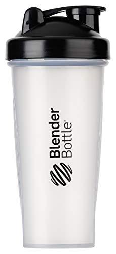 BlenderBottle Classic Shaker | Eiweiß Shaker | Diät Shaker | Protein Shaker mit Blenderball 820ml - Clear Black