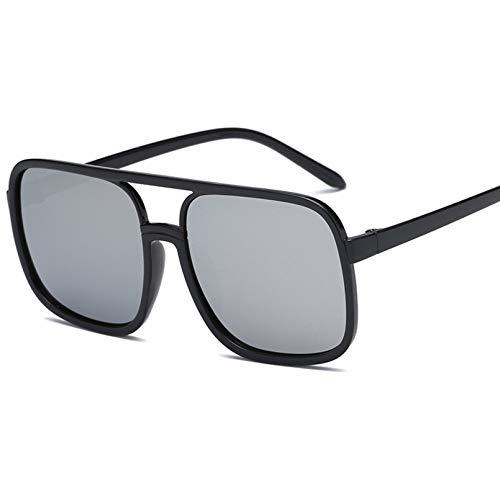 YTYASO Gafas de Sol cuadradas de aviación de Gran tamaño para Mujer Gafas de Sol Negras Rojas de Moda para Mujer