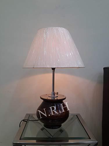 Soporte de lámpara de mesa modelo vintage sin lámpara de decoración de sombra