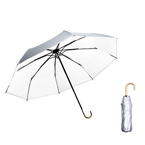 WWDKF Mini Sombrillas De Protección Solar De Titanio Platea
