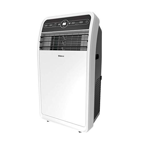 Shinco 10,000 BTU Portable Air Conditioners with Built-in Dehumidifier Function, Fan Mode, Quiet AC Unit Cools Rooms to 300 sq.ft, LED Display, Remote Control, Complete Window Mount Exhaust Kit