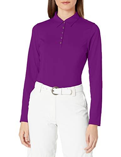 Cutter & Buck Damen Poloshirt, feuchtigkeitsableitend, UPF 50+, langärmlig - Violett - Mittel