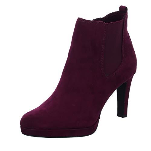 Tamaris Damen Stiefeletten Bordeaux, Schuhgröße:EUR 39