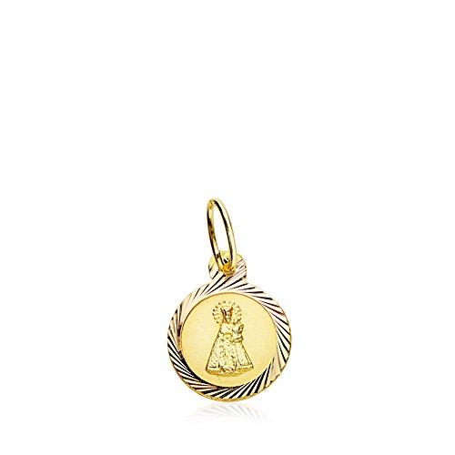 Medalla lenteja Virgen Desamparados Oro 18k 8mm