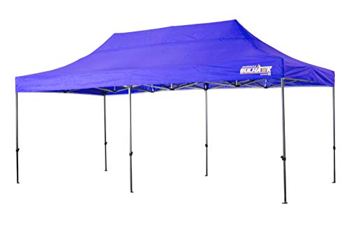 Bulhawk  3M x 6M Premium 32 Pop Up Gazebo Commercial Grade Market Stall Gazebo with Wheeled Carry Bag (Blue)