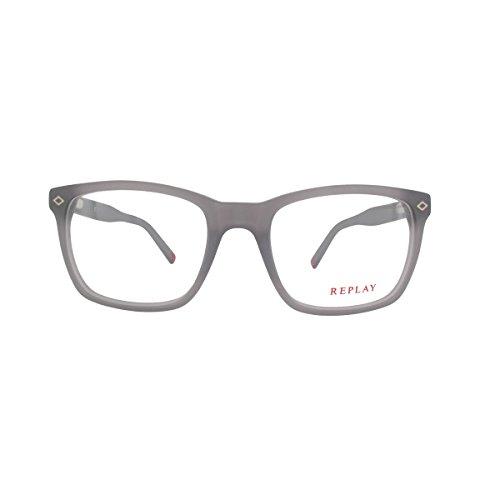 Replay Unisex-Erwachsene RY111V04 Sonnenbrille, Gris-Rojo, 52/19/140