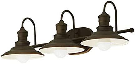 Hainsbrook 3-Light Aged Bronze Max Daily bargain sale 41% OFF Vanity Cone Light