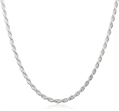 925 Sterling Silver 2mm Rope Chain - Available in 7