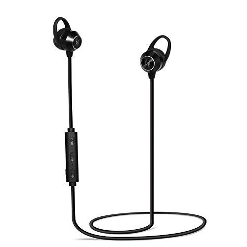 Invictus - Auriculares Bluetooth 5.0 Inalámbricos Ultra Calidad HD Auricular Negro Microfono Manos Libres para Gaming Deportivos Trabajo Enorme Autonomía y Reducción de Ruido Última Recnología 2020