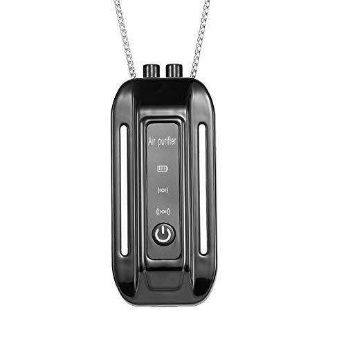 YANZHU Tragbare Luft-Halskette, Persönliche Mode Luft hängende Halskette um den Hals, Mini tragbare Reise-Größe Air Halskette, Mini tragbare Halskette Luftreiniger Negative Ionen-Generator