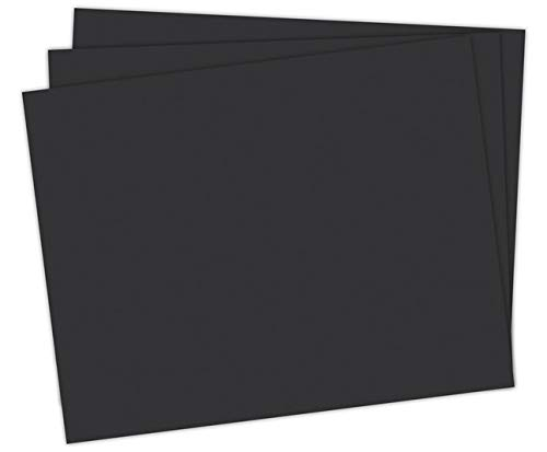 School Smart 1485744 Railroad Board, 6-ply Thickness, 22' x 28', Black (Pack of 25)