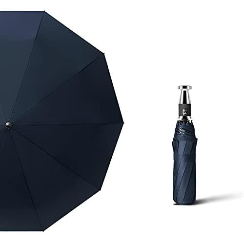 Paraguas plegable automático cortavientos para mujer y niño, de lujo, gran formato, para negocios, lluvia